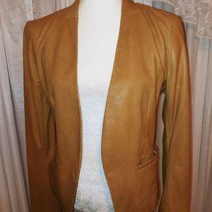 Theory Camel Lambskin Blazer Jacket 6